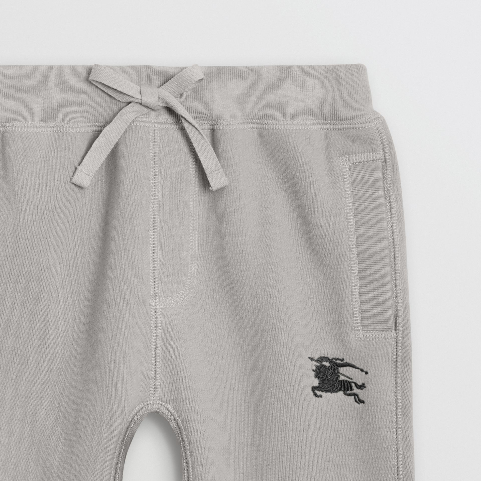 Cotton Jersey Trackpants in Chalk Grey Melange | Burberry - gallery image 4