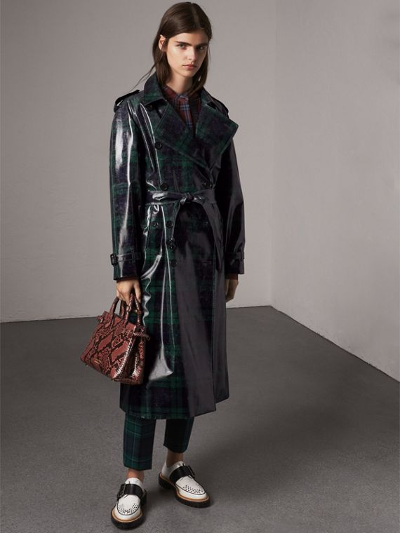 The Banner piccola in pelle di pitone (Peonia) - Donna | Burberry - cell image 3