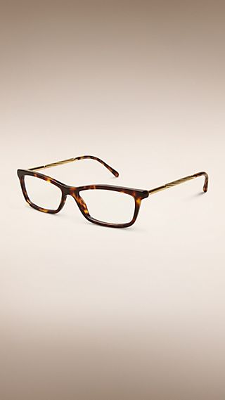 Metallic Detail Square Optical Frames