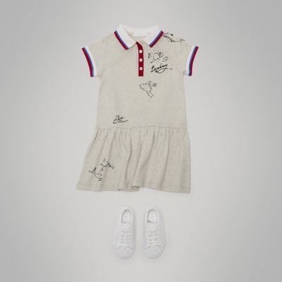 Burberry - Robe polo en coton extensible - 3