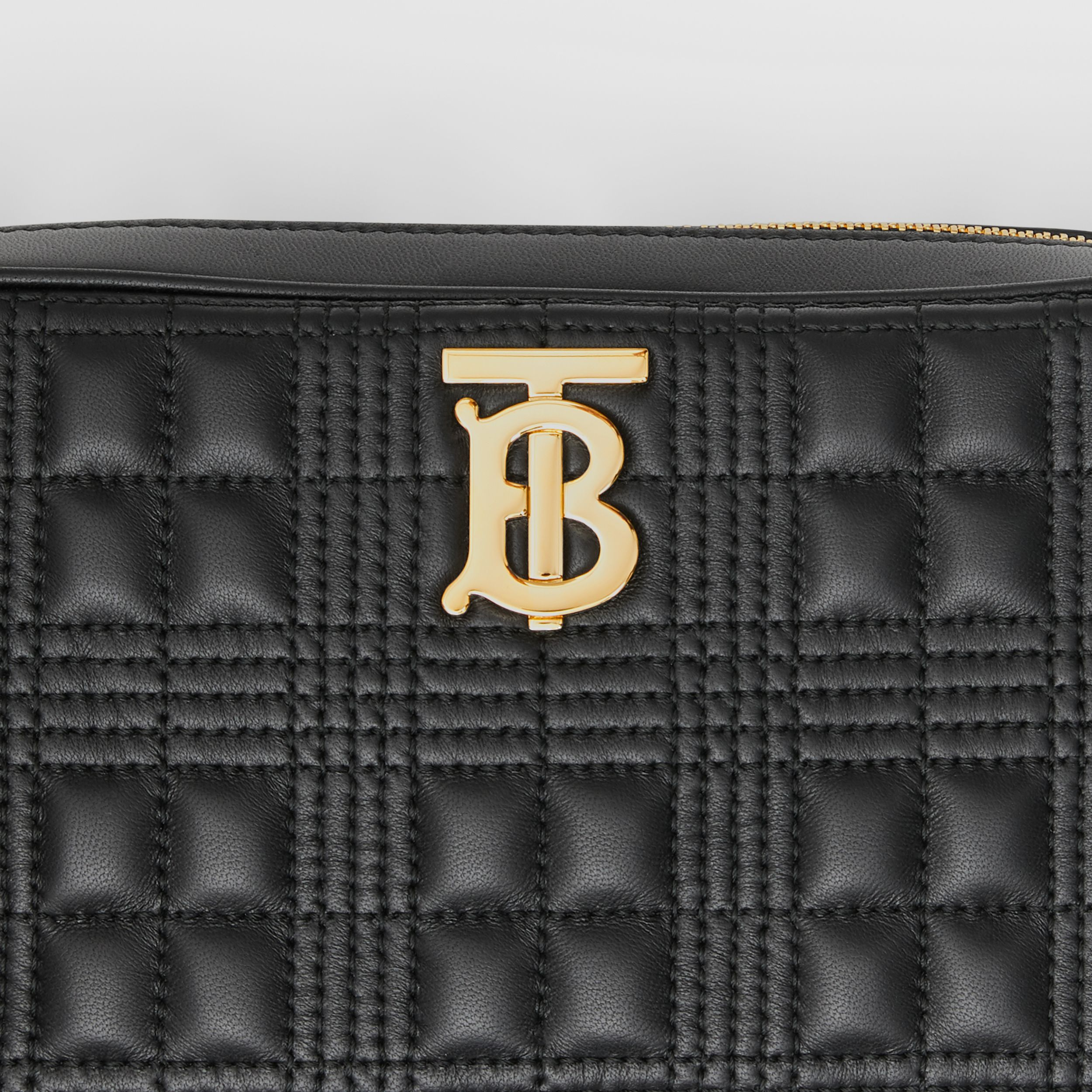 Quilted Lambskin Camera Bag in Black - Women | Burberry - 2