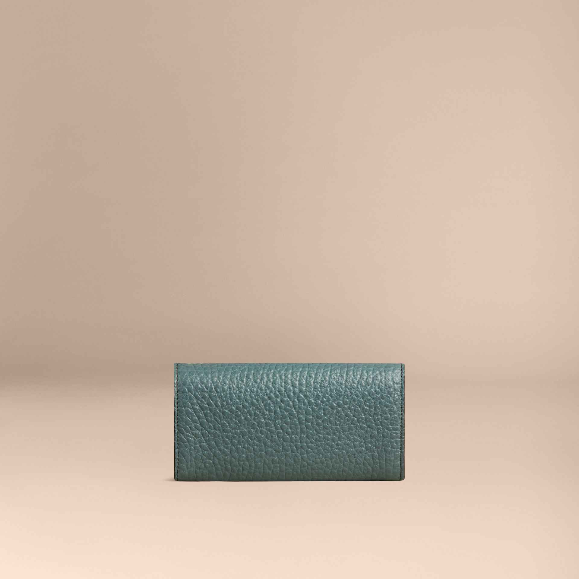Celadon blue Signature Grain Leather Continental Wallet Celadon Blue - gallery image 2