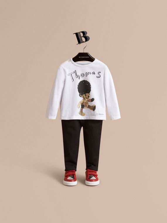 Thomas Bear Guardsman Print Cotton Top - Children | Burberry Australia