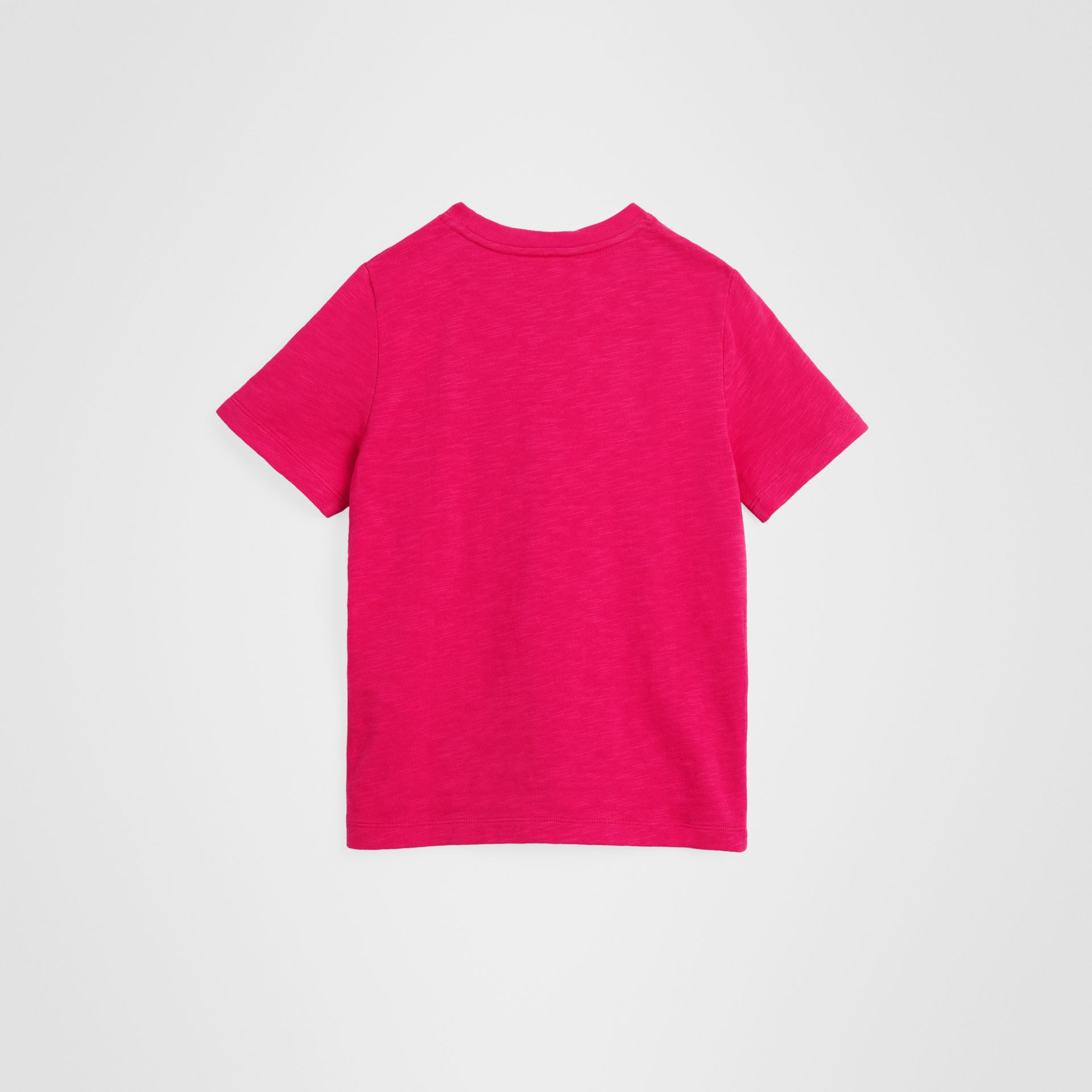 Logo Print Cotton T-shirt in Raspberry Pink | Burberry United Kingdom - gallery image 2