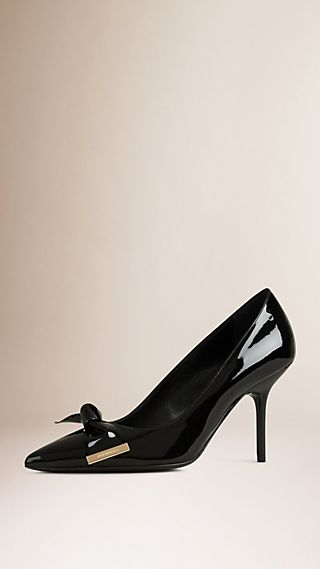 Bow Detail Patent Leather Pumps