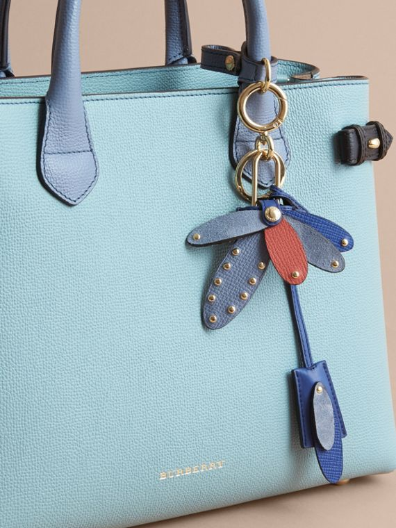 Beasts Leather Key Charm and Padlock in Hydrangea Blue - Women | Burberry - cell image 2