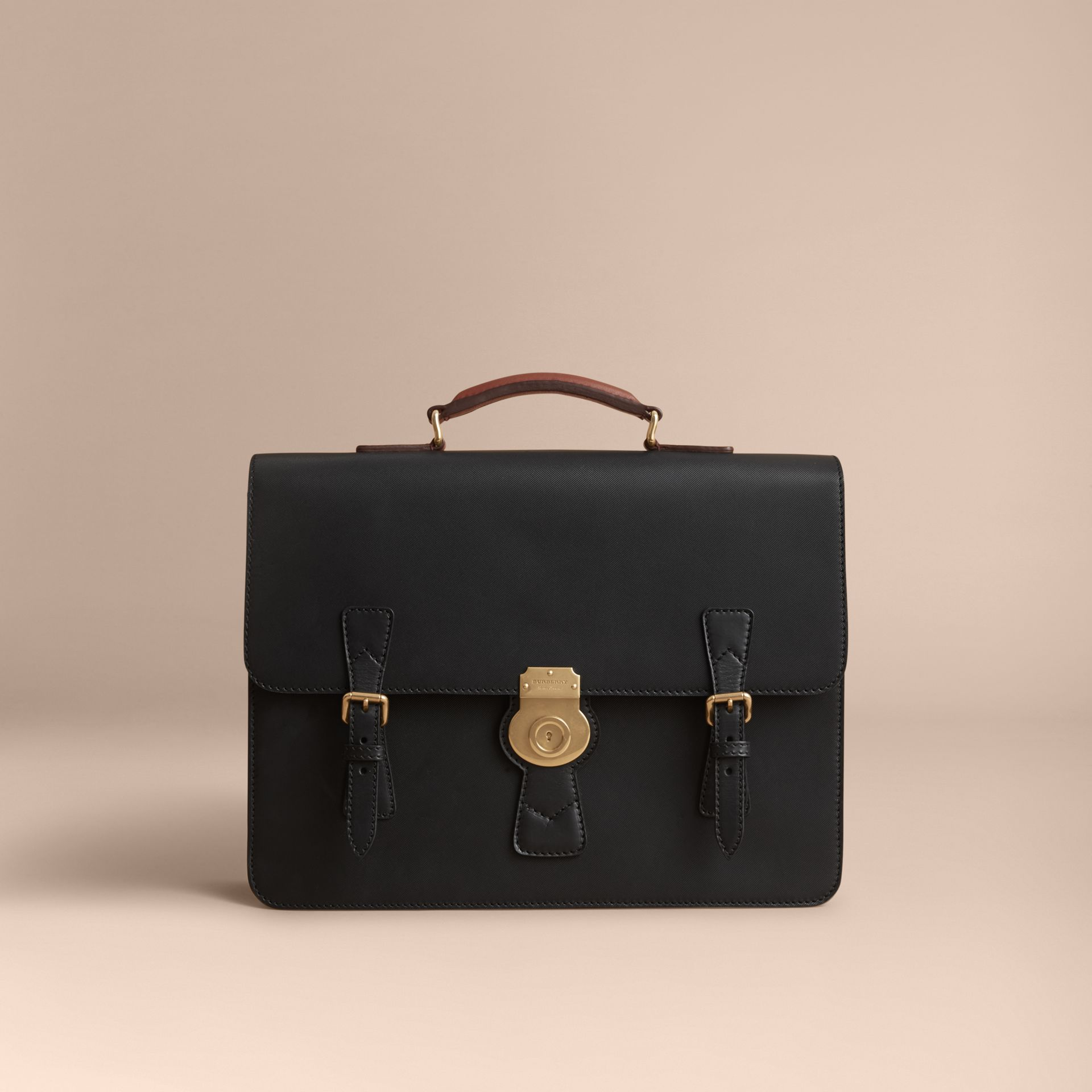 The Medium DK88 Satchel in Black - Men | Burberry United Kingdom - gallery image 6