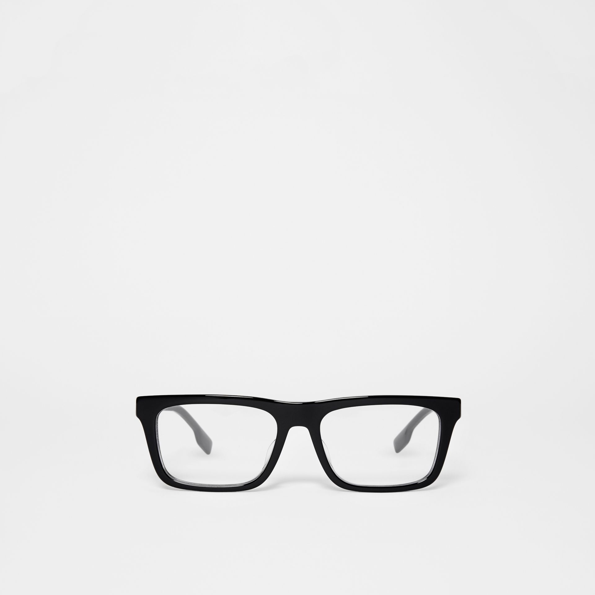 Rectangular Optical Frames in Black - Men | Burberry United Kingdom - gallery image 0