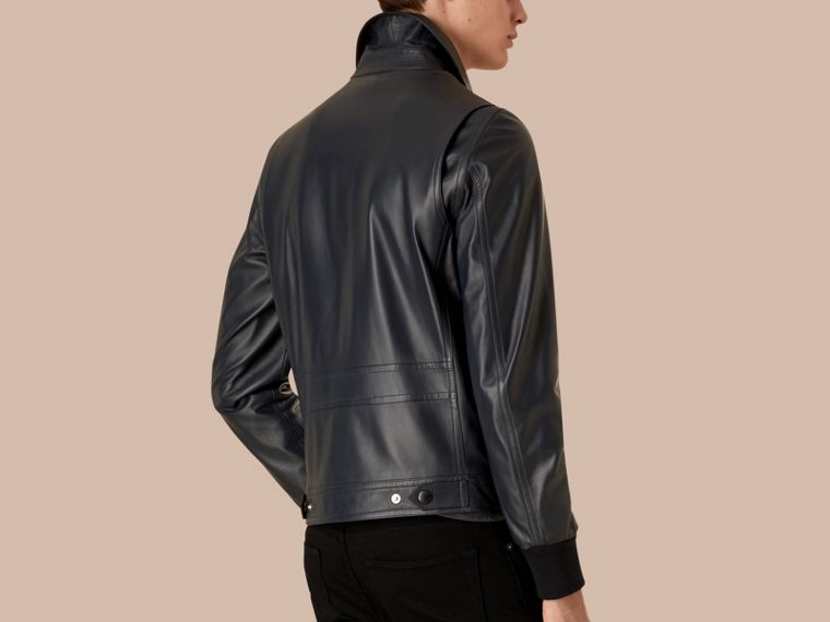 Navy Lambskin Jacket - cell image 1