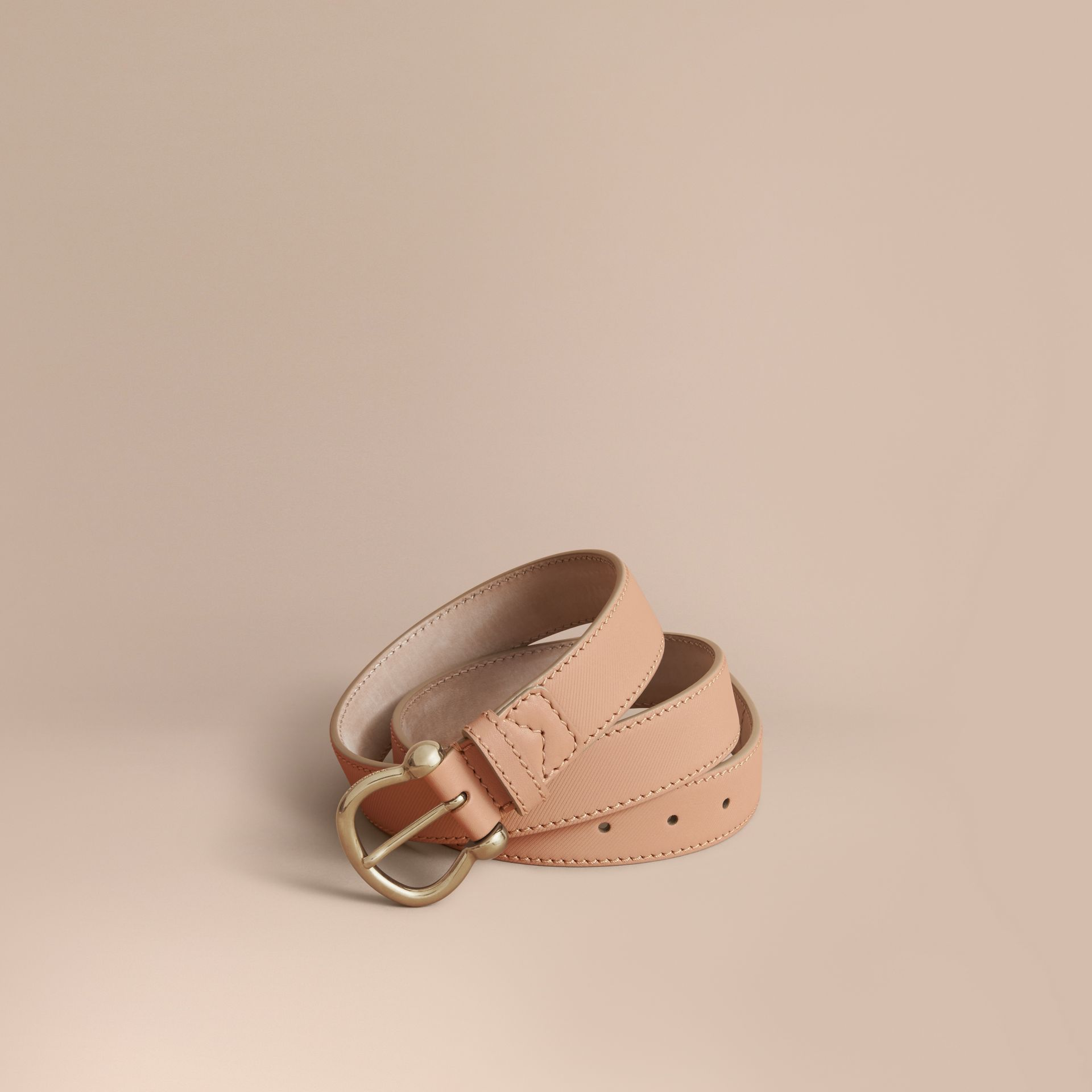 Trench Leather Belt in Honey - Women | Burberry United States - gallery image 1