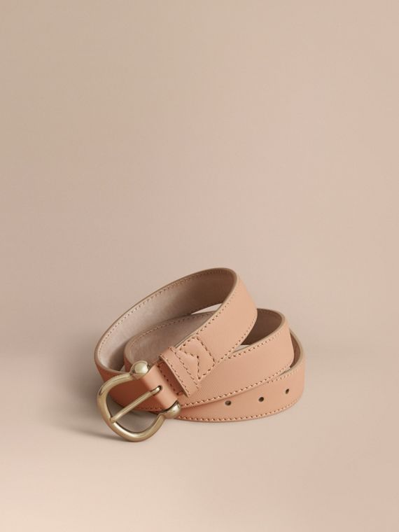 Trench Leather Belt in Honey