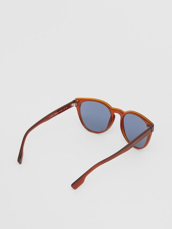 Round Frame Sunglasses in Amber - Men | Burberry Australia - cell image 3