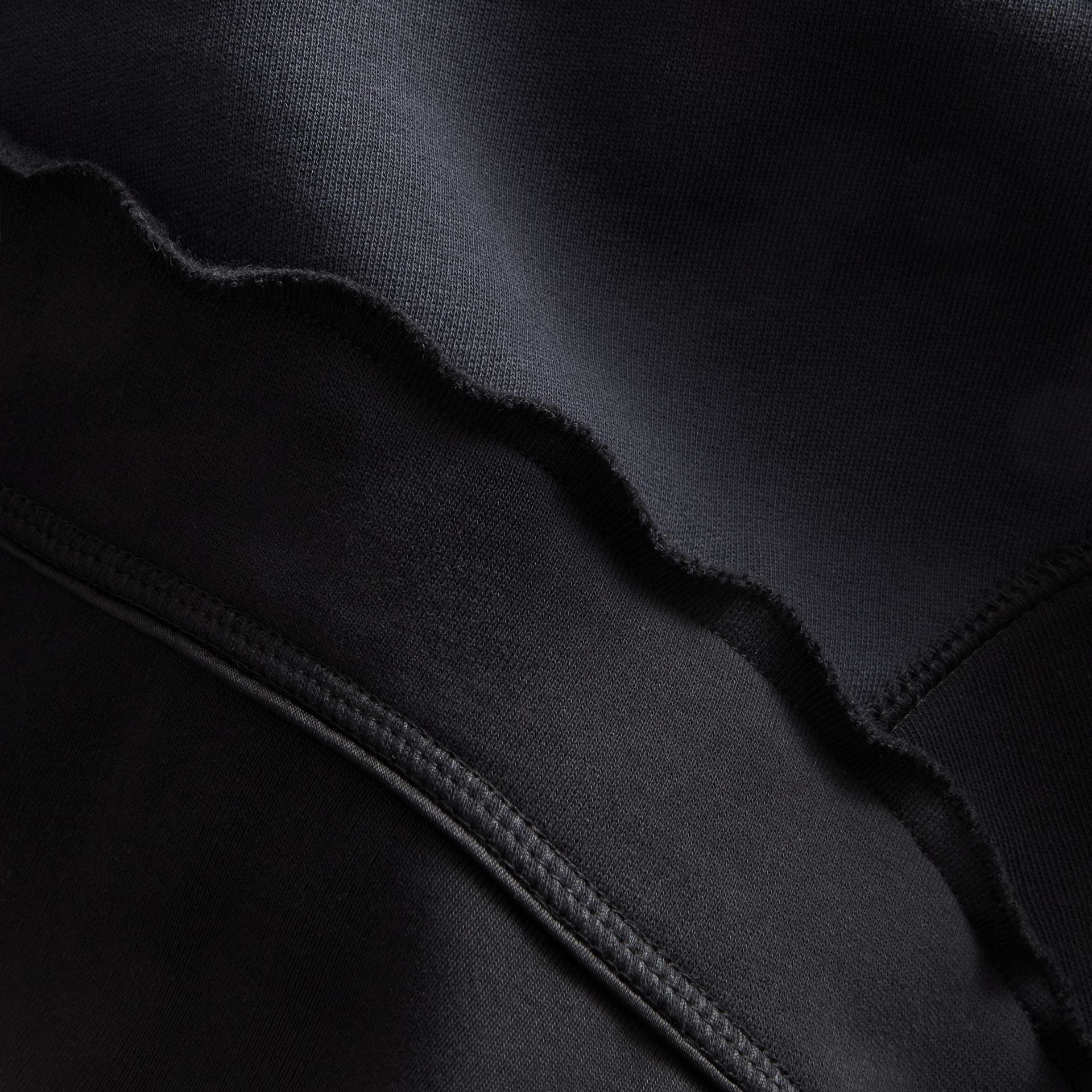 Sculptured-sleeve Seam Detail Sweatshirt in Black - Women | Burberry - gallery image 2