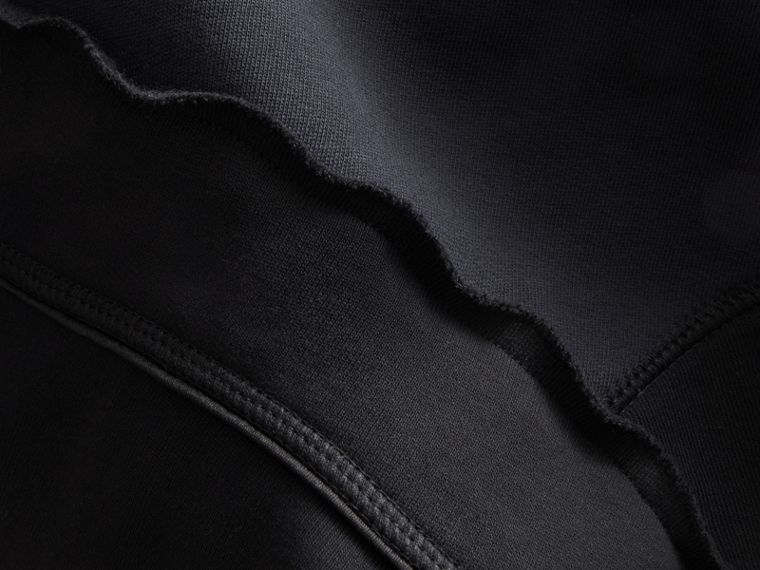 Sculptured-sleeve Seam Detail Sweatshirt in Black - Women | Burberry - cell image 1
