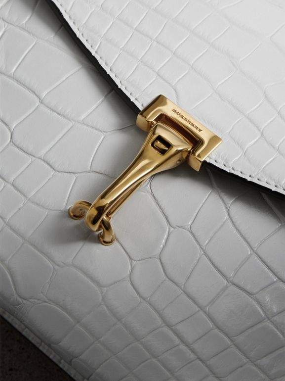 Small Alligator Crossbody Bag in Chalk White - Women | Burberry United Kingdom - cell image 1