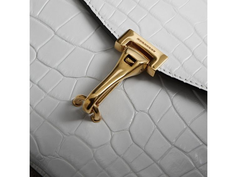 Small Alligator Crossbody Bag in Chalk White - Women | Burberry - cell image 1