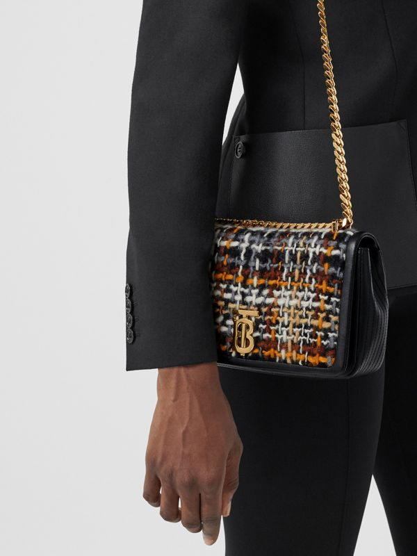 Small Tweed and Lambskin Lola Bag in Black - Women | Burberry - cell image 2