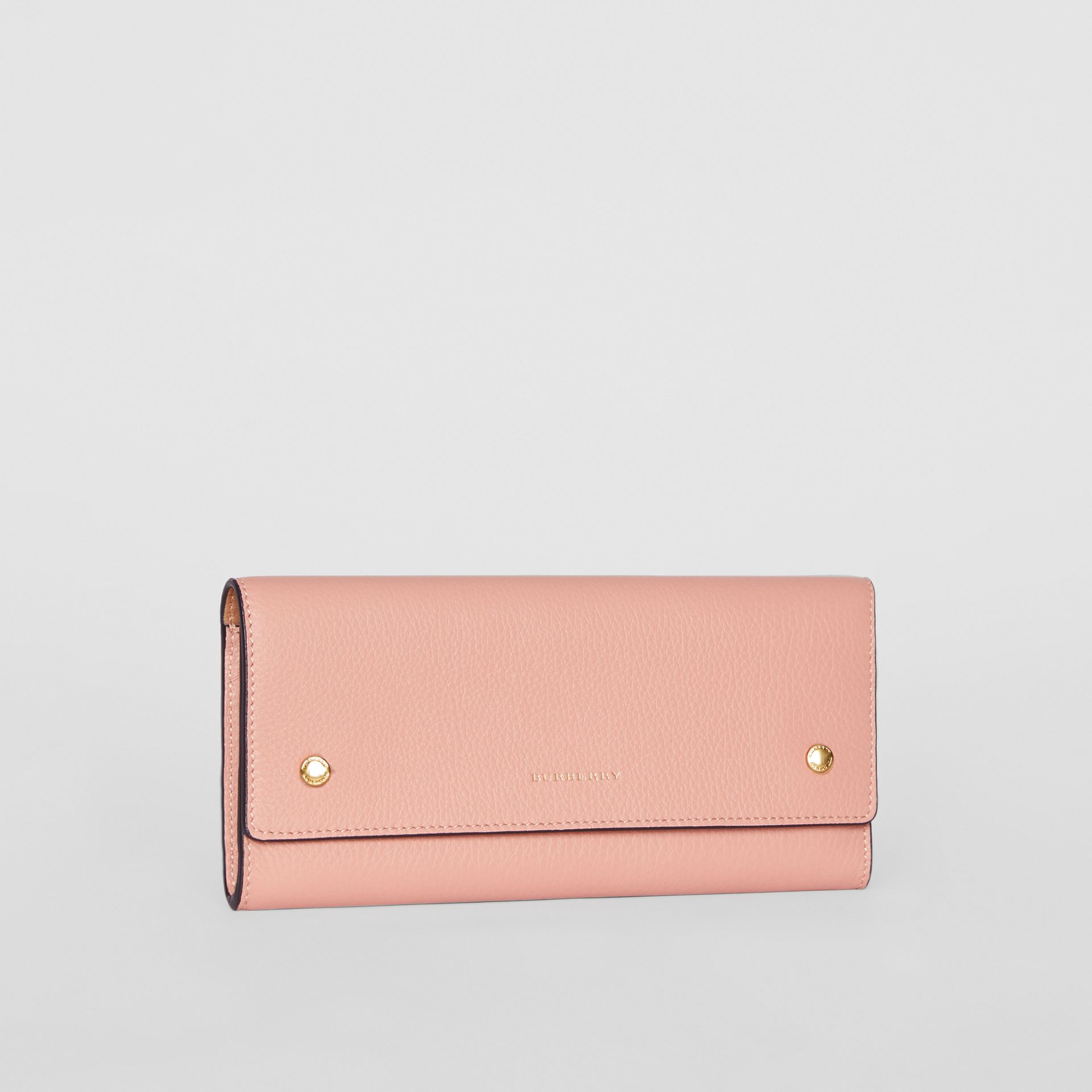 Leather Continental Wallet in Ash Rose - Women | Burberry - gallery image 4