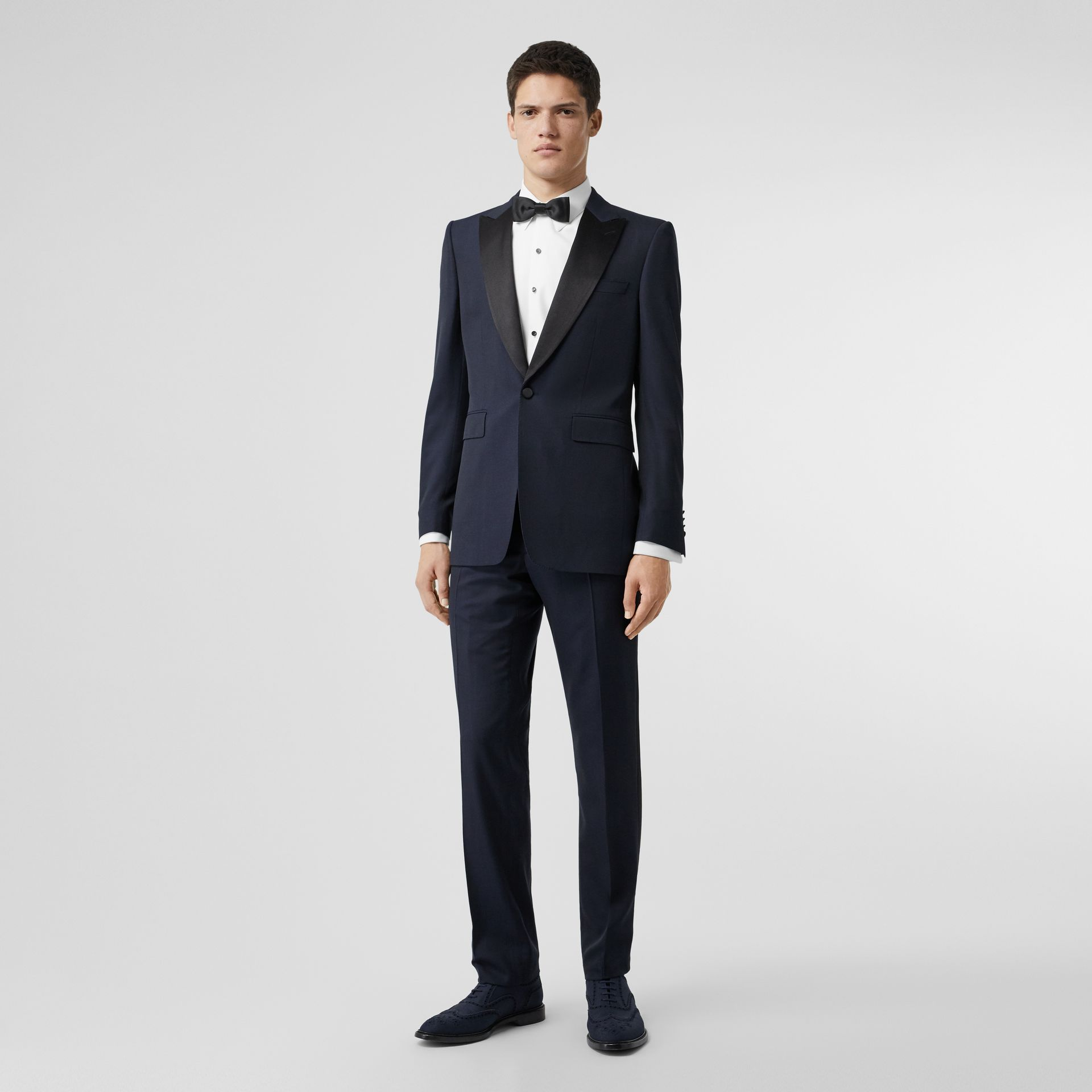 Classic Fit Wool Silk Tuxedo in Navy - Men | Burberry - gallery image 0