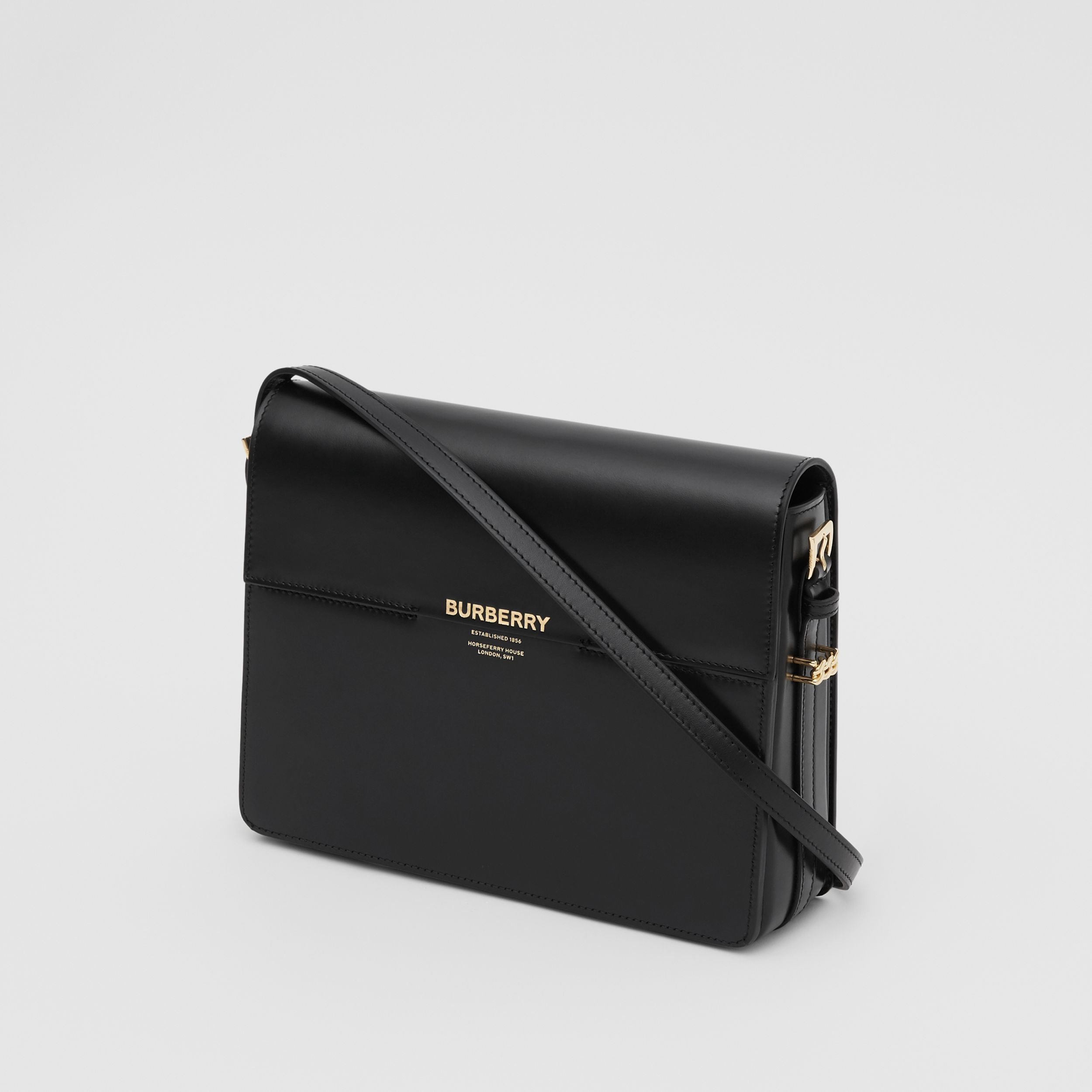 Large Leather Grace Bag in Black - Women | Burberry United Kingdom - 4