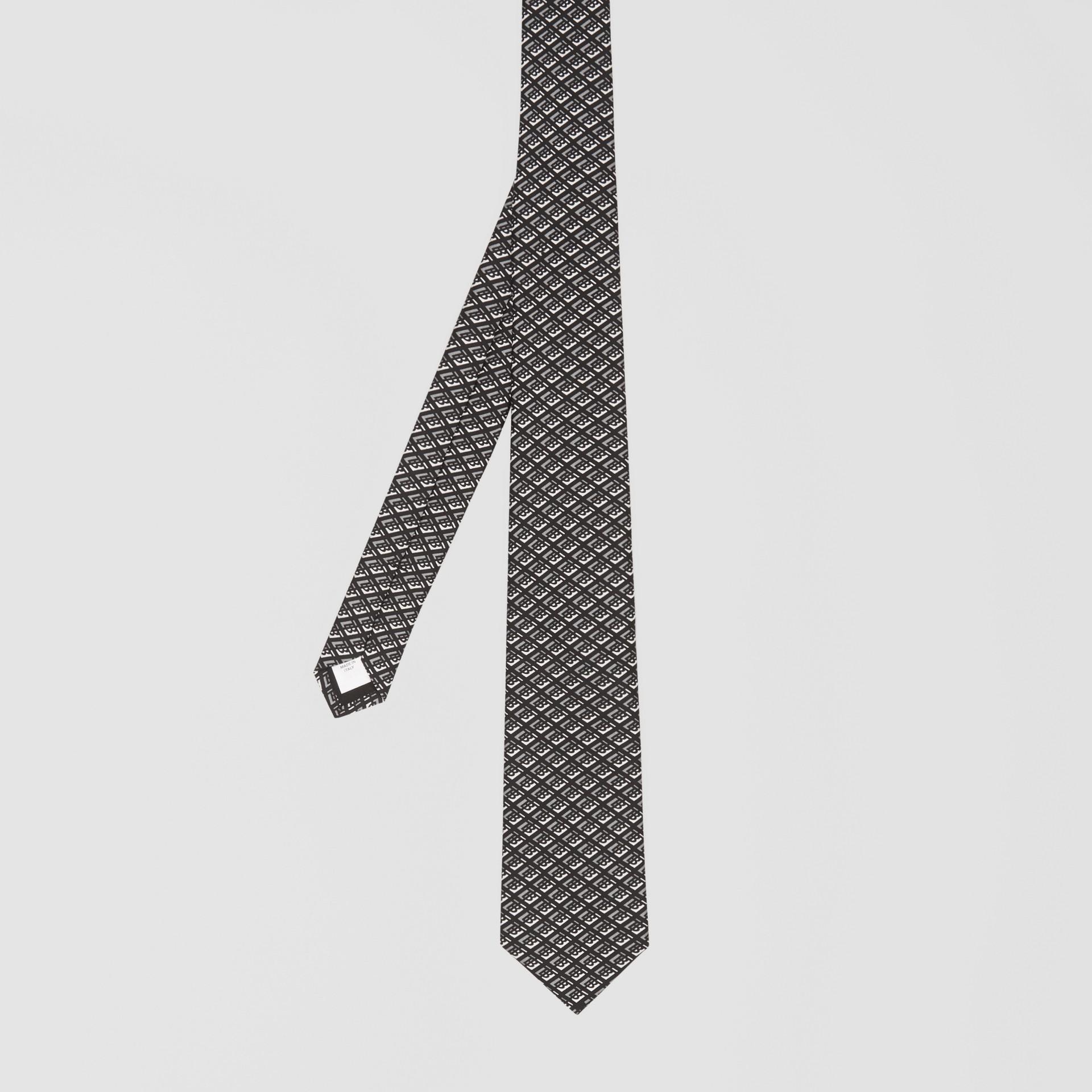 클래식컷 로고 그래픽 실크 타이 (미드 그레이) - 남성 | Burberry - 갤러리 이미지 4