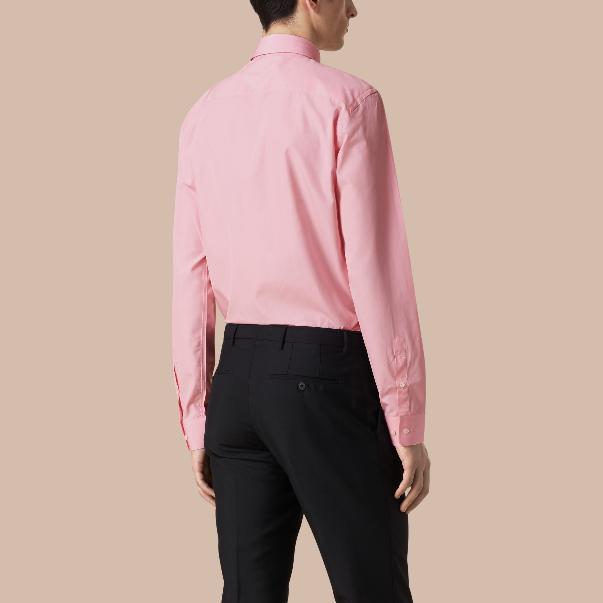 Modern Fit Cotton Poplin Shirt in City Pink - gallery image 3