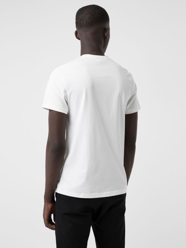 House Music Print Cotton T-shirt in White - Men | Burberry - cell image 2