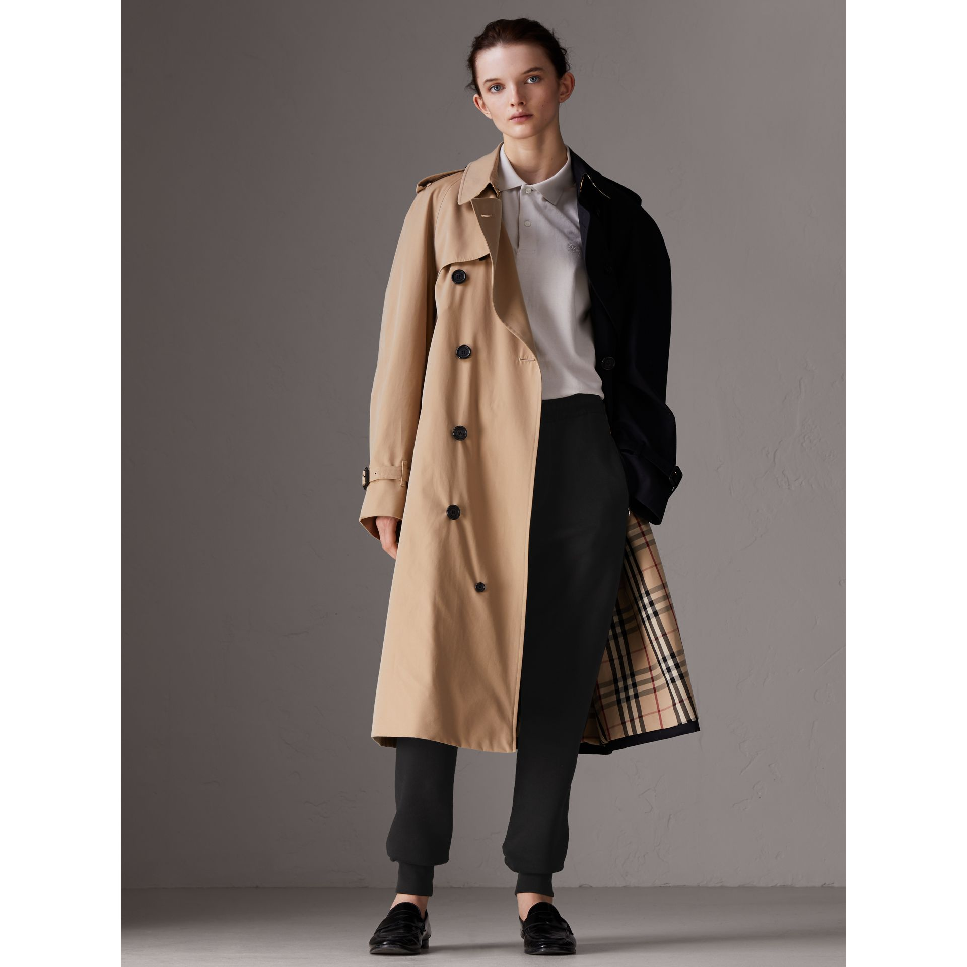 Gosha x Burberry Two-tone Trench Coat in Honey | Burberry United Kingdom - gallery image 3