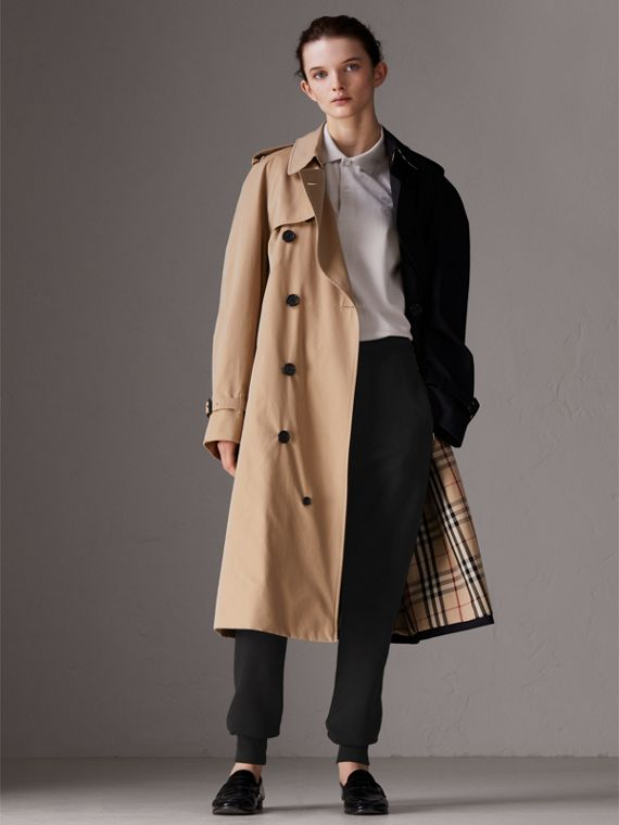 Gosha x Burberry Two-tone Trench Coat in Honey | Burberry United Kingdom - cell image 3