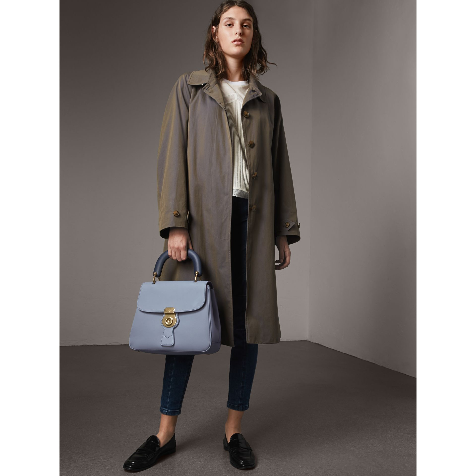 The Medium DK88 Top Handle Bag in Slate Blue - Women | Burberry Singapore - gallery image 2