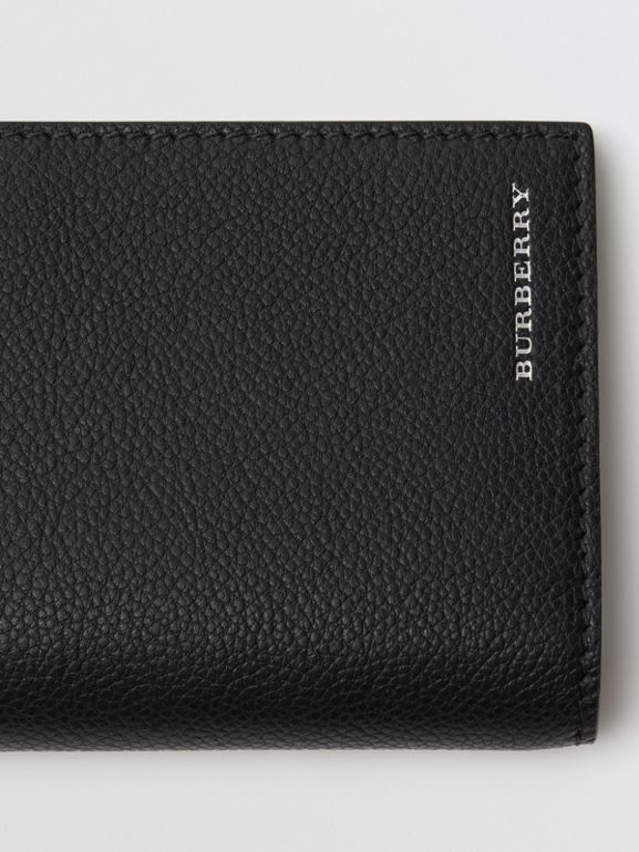 Grainy Leather Continental Wallet in Black - Men | Burberry - cell image 1