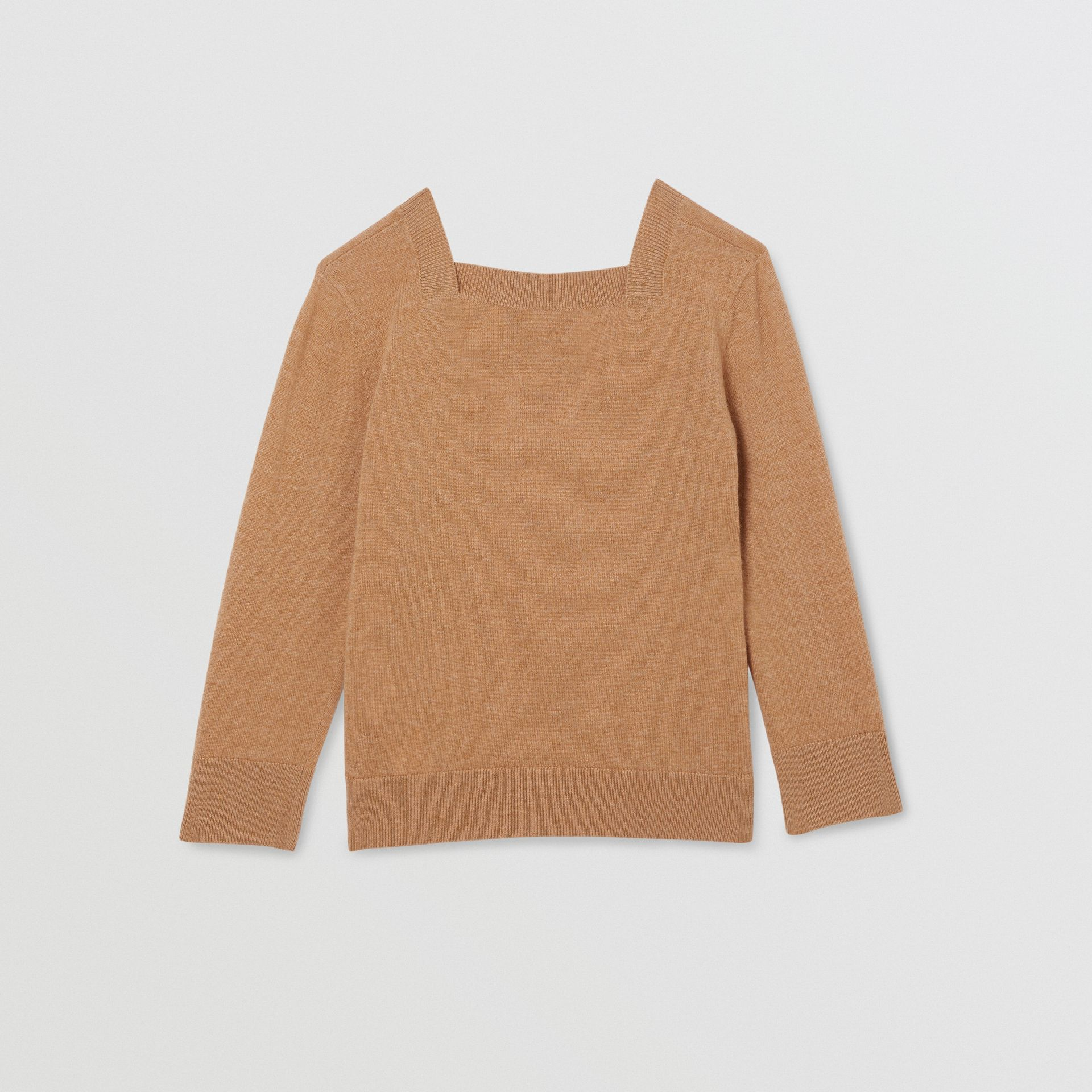 Monogram Motif Cashmere Sweater in Camel | Burberry - gallery image 4