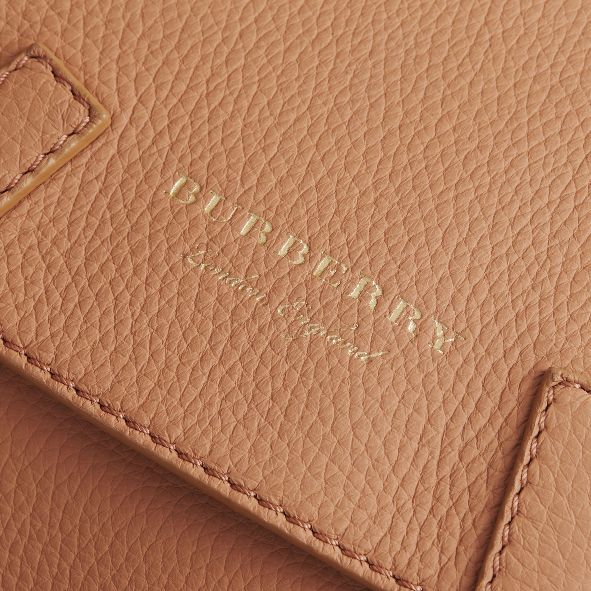 The Bridle Crossbody Bag in Deerskin in Pale Clementine - Women | Burberry - gallery image 2