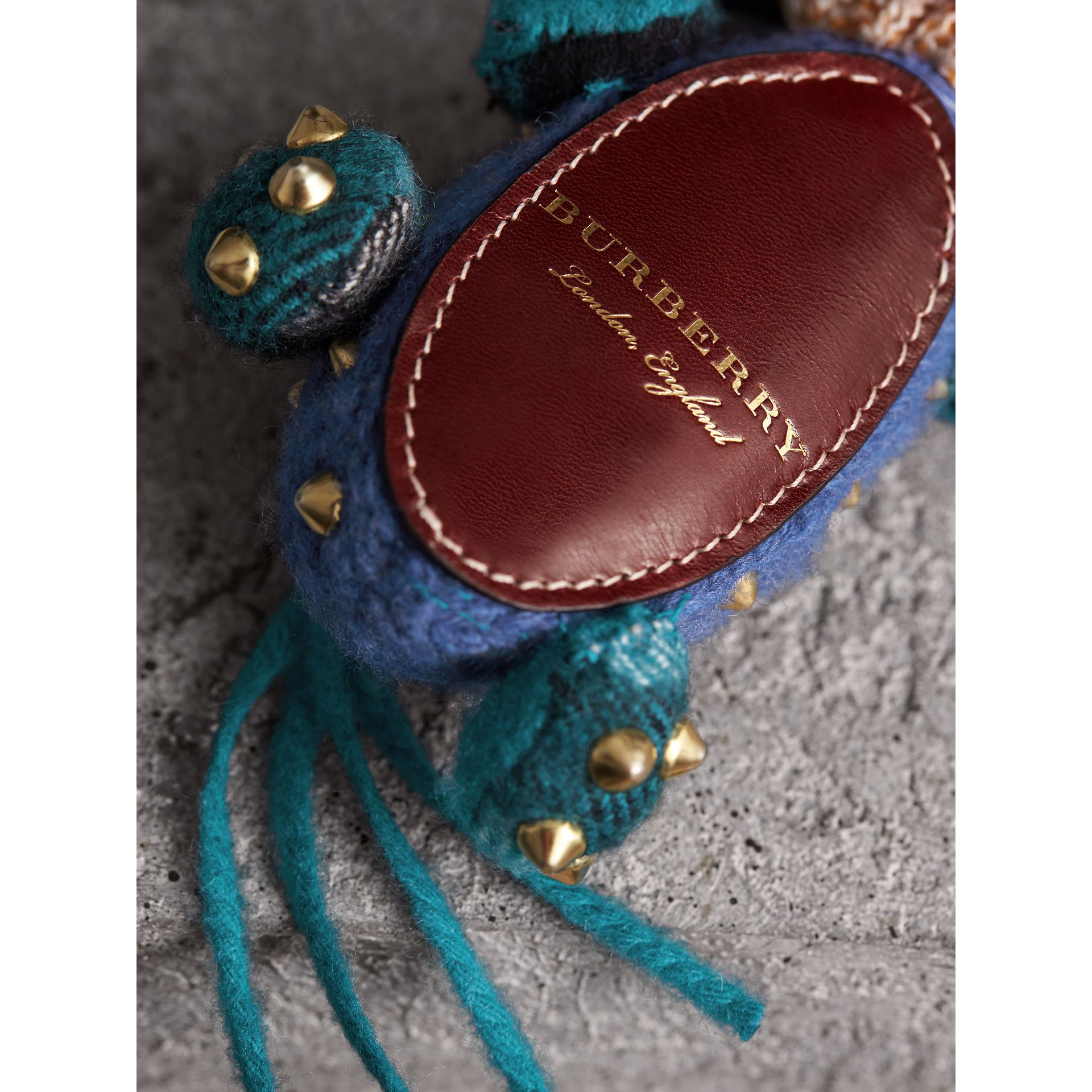 Mabel The Donkey Wool Charm in Navy Multicolour | Burberry - gallery image 2