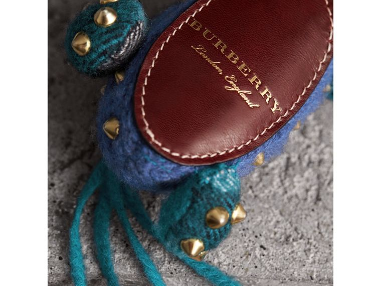 Mabel The Donkey Wool Charm in Navy Multicolour | Burberry - cell image 1