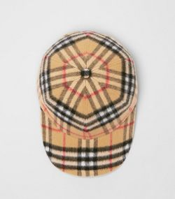 Vintage Check Wool Baseball Cap in Antique Yellow f0a38f0ea90