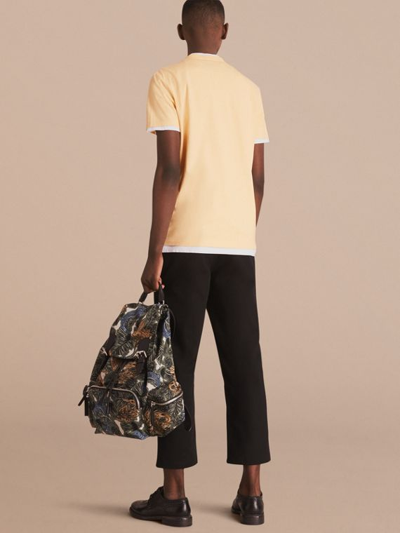 Cotton Jersey T-shirt in Pale Yellow Melange - Men | Burberry Singapore - cell image 2