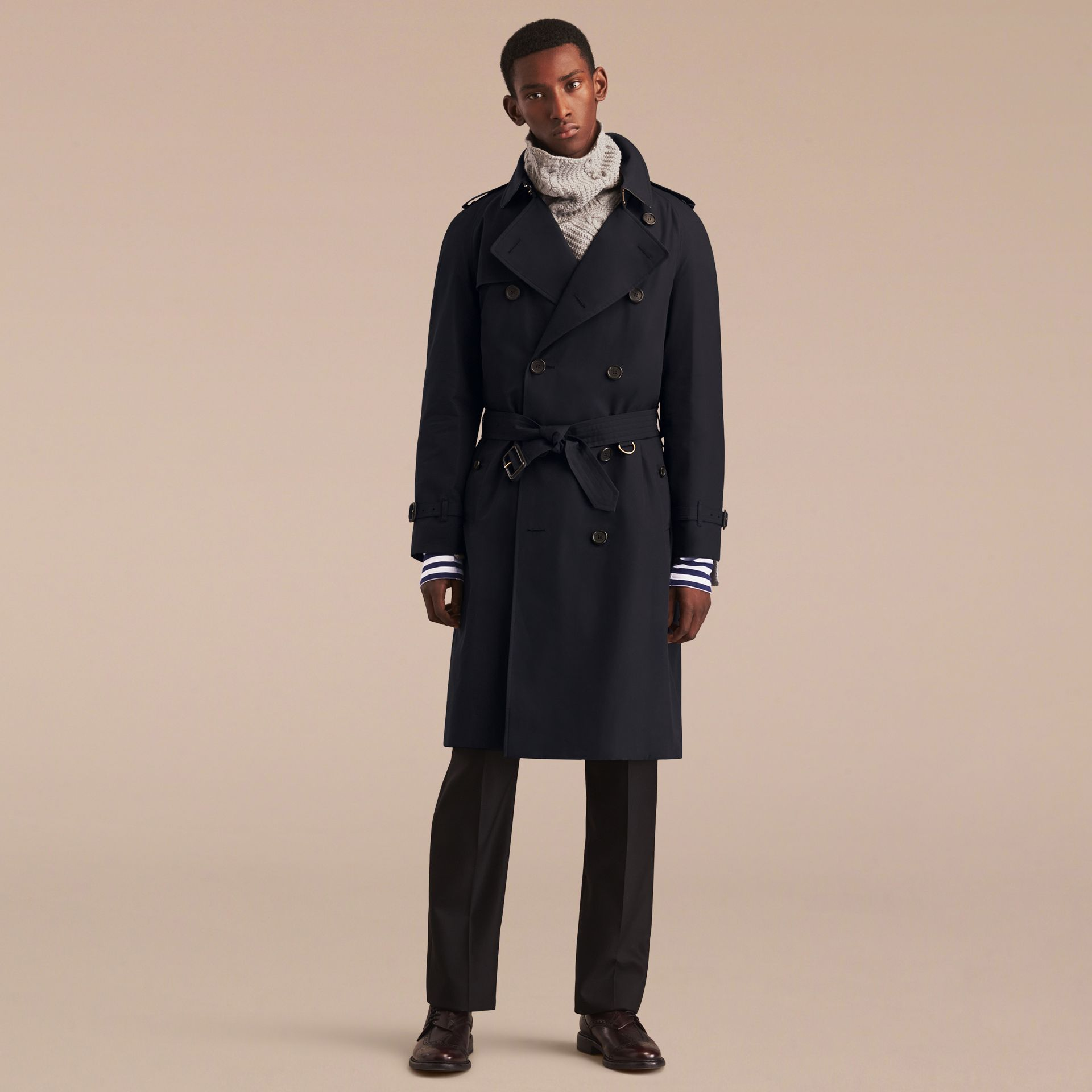 Navy The Westminster – Long Heritage Trench Coat Navy - gallery image 9
