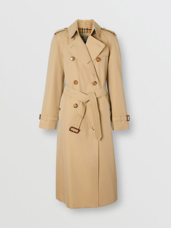 The Long Waterloo Heritage Trench Coat in Honey - Women | Burberry Canada - cell image 3
