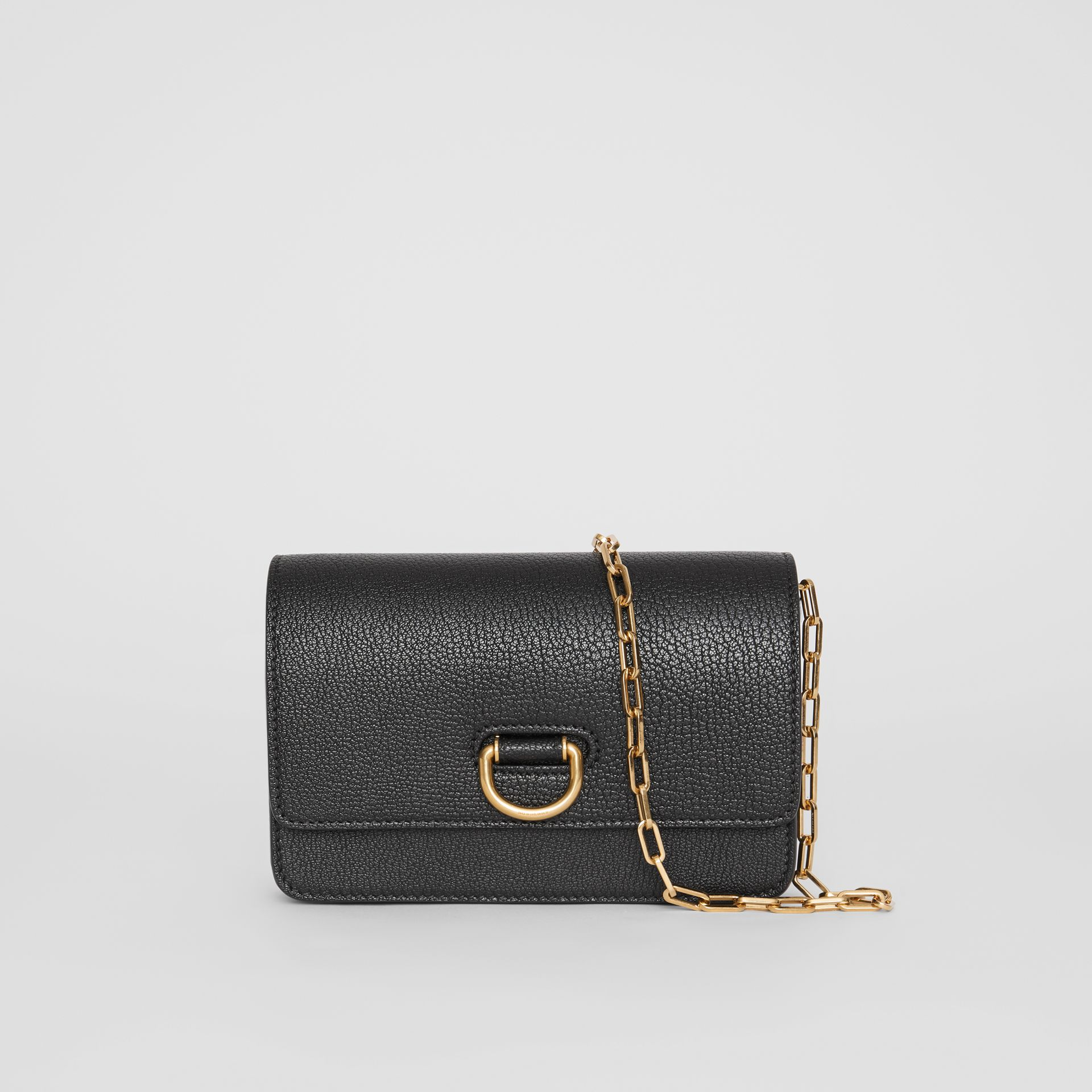 The Mini Leather D-ring Bag in Black - Women | Burberry United States - gallery image 0