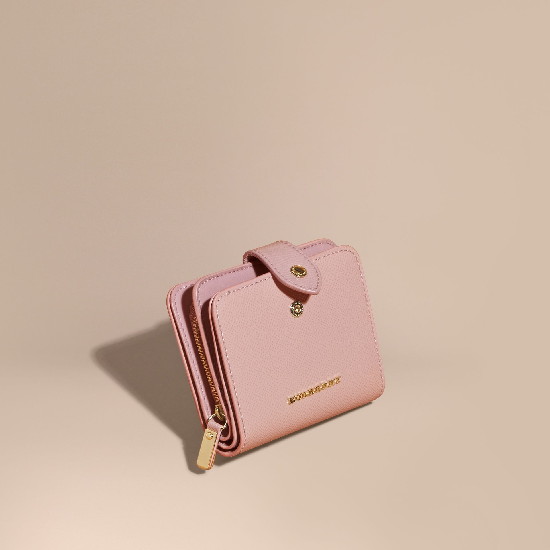 Patent London Leather Wallet in Ash Rose - gallery image 1