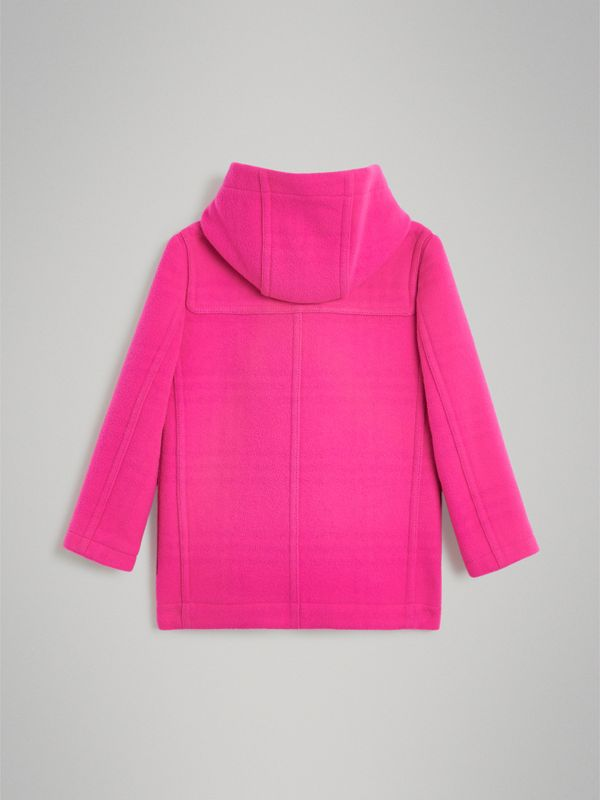 Double-faced Wool Duffle Coat in Neon Pink | Burberry United States - cell image 3