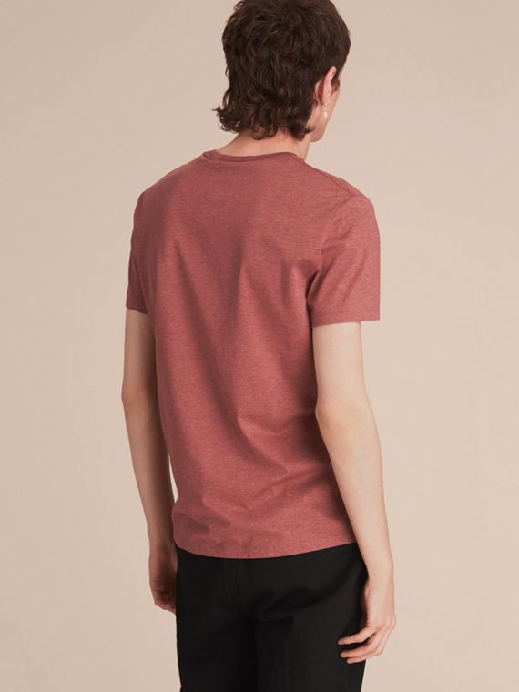 Cotton Jersey T-shirt in Russet Melange - Men | Burberry - cell image 2