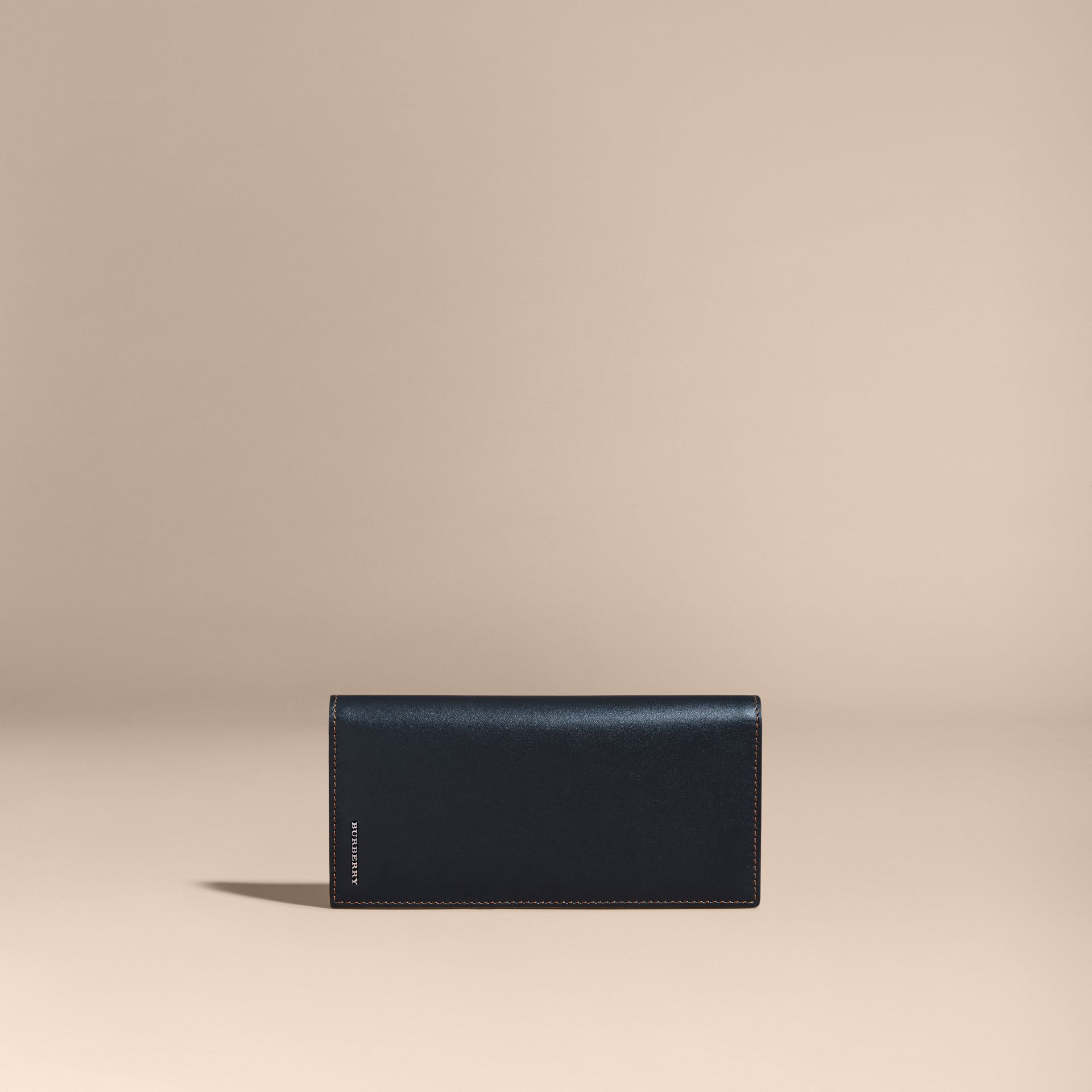 Dark navy Smooth Leather Continental Wallet Dark Navy - gallery image 6