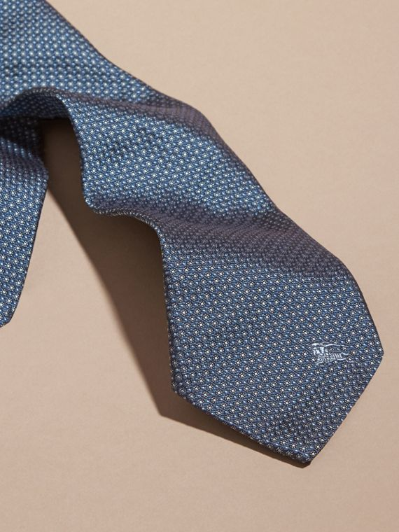 Light blue Modern Cut Patterned Silk Tie Light Blue - cell image 3