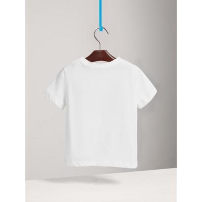 Burberry - T-shirt en coton à manches longues avec poche à motif check - 4