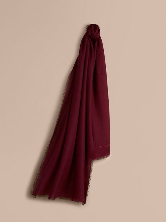 The Lightweight Cashmere Scarf in Plum | Burberry Singapore