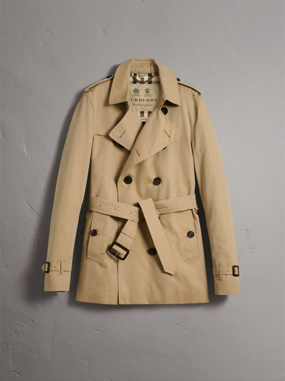 The Kensington – Short Heritage Trench Coat in Honey - Men | Burberry - cell image 3