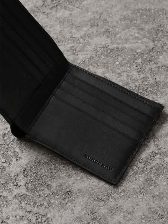 London Check International Bifold Wallet in Chocolate/black - Men | Burberry Canada - cell image 3