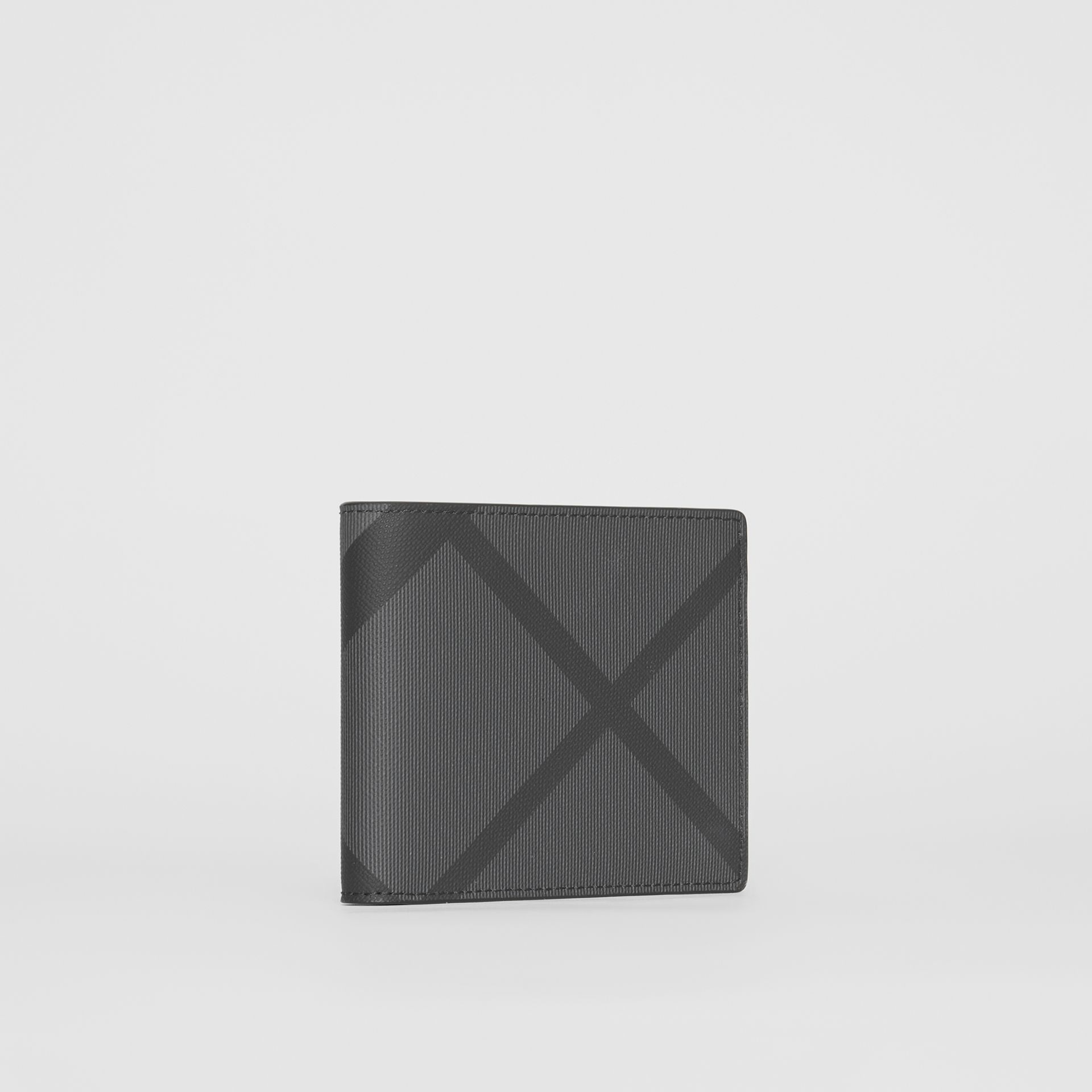 London Check ID Wallet in Charcoal/black - Men | Burberry Canada - gallery image 3